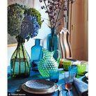 Un art de la table bleu et vert