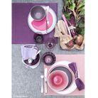 Un art de la table rose et violet