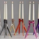 Un chandelier design pour une déco de table de Saint-Valentin chiadée