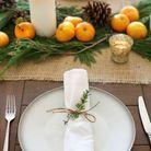 Décoration de table hiver : imaginez un chemin de table comestible