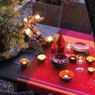 Illuminez votre table d'été de bougies