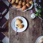 Assiettes à dessert en céramique fait main