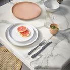 Plateau rose en céramique