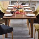 Table bois rustique rallonges alinea
