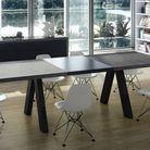 Table beton rallonges