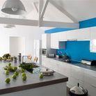 Cuisine bleue electrique