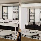 Un studio avec plateau amovible