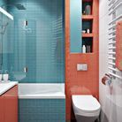 Salle de bains pour enfant avec un duo de mosaïques pop