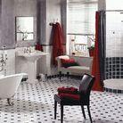 Salle de bains retro herbeau