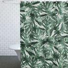 Rideau de douche à imprimé végétal