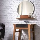 Vasque intégrée meuble
