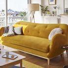 Canapé en velours Habitat