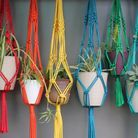Etsy support plante macrame