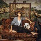 Jane Birkin dans son salon à Paris en 2001