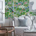 Assumer un mur recouvert de papier peint végétal