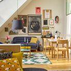 Créer un mur de cadres dans un petit salon