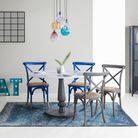 Tapis kilim bleu