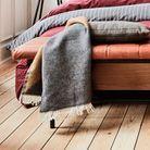 Plaid pour l'hiver en coton multicolore