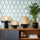 Lampe en bambou à poser