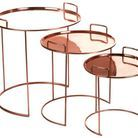 Tables basses cuivres