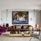 Un salon blanc qui mixe les styles