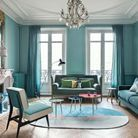 Un salon bleu version total look
