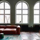 Un salon coloré noir et vert