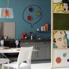 5. Une cuisine ouverte avec une cloison modulable
