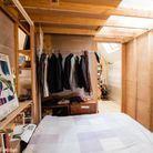 Chambre dans cabane en bois