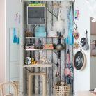Une armoire Ikea détournée en coin bureau