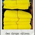 Des draps citron.