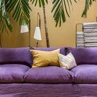 Le jaune moutarde associé au violet