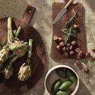 Planche à découper en bois pour une cuisine avec moins de plastique