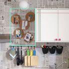 >> Fixez vos dessous de plat sur un mur de la cuisine