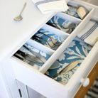Du papier peint pour habiller les fonds d'un tiroir