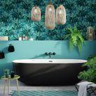 Repeindre un mur en bleu turquoise