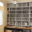 Papier peint effet bibliothèque