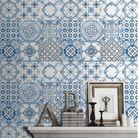 Papier peint tendance bleue : les carreaux de ciment