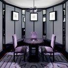 Mariage n°5 : gorge-de pigeon, lilas poudré et charbon par Vincent Darré, décorateur et designer