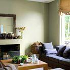Murs salon pastel vert