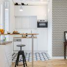Esprit graphique pour une cuisine blanche