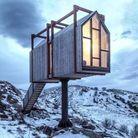 Une cabane d'architecte en pleine montagne
