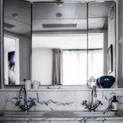 Vasque salle de bains marbre vintage
