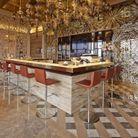 Bar du GVK Business Lounge à Mumbai, Inde