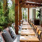 Terrasse de la brasserie Auteuil : un parfum de Toscane