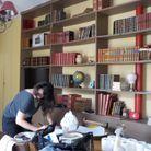 La bibliothèque avant