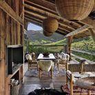 Une terrasse de chalet dépaysante