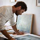 L'atelier de peinture d'Olivier.