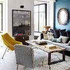 Salon cosy aux codes vintage