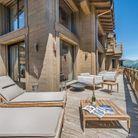 La terrasse du chalet Perce Neige